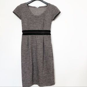 Max Mara Wool and velvet brown tweed dress